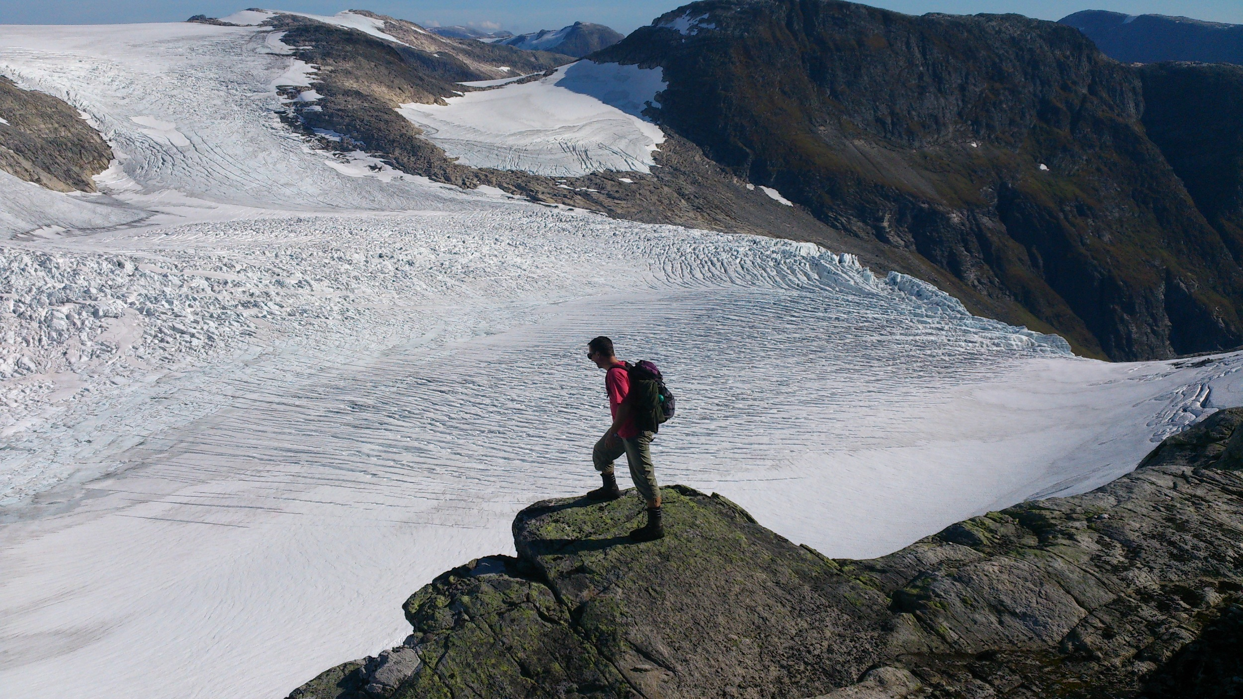 Bøyabreen Glacier 2014. Photo: Pål Gran Kielland.
