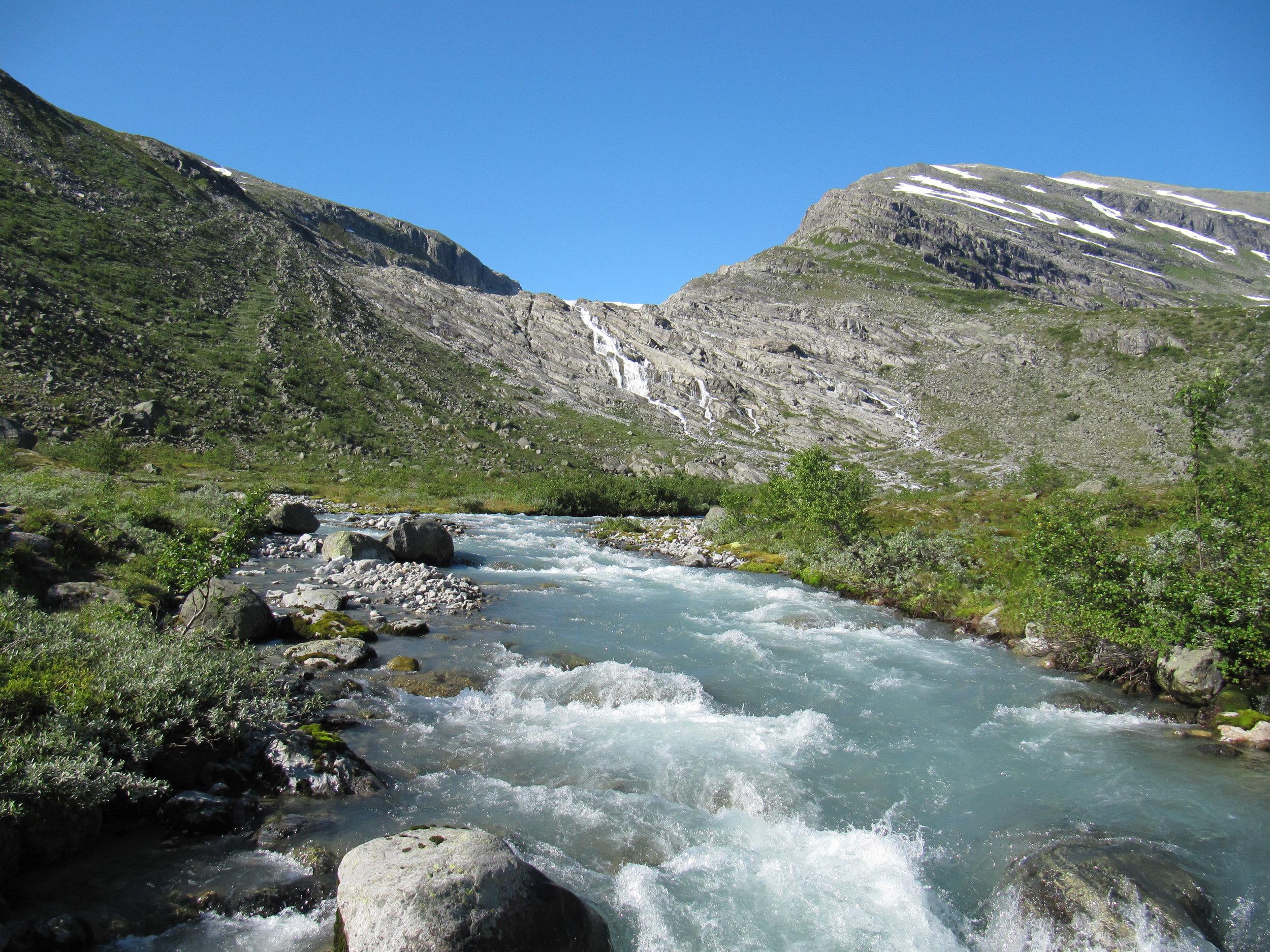 Haugabreen Glacier in 2012