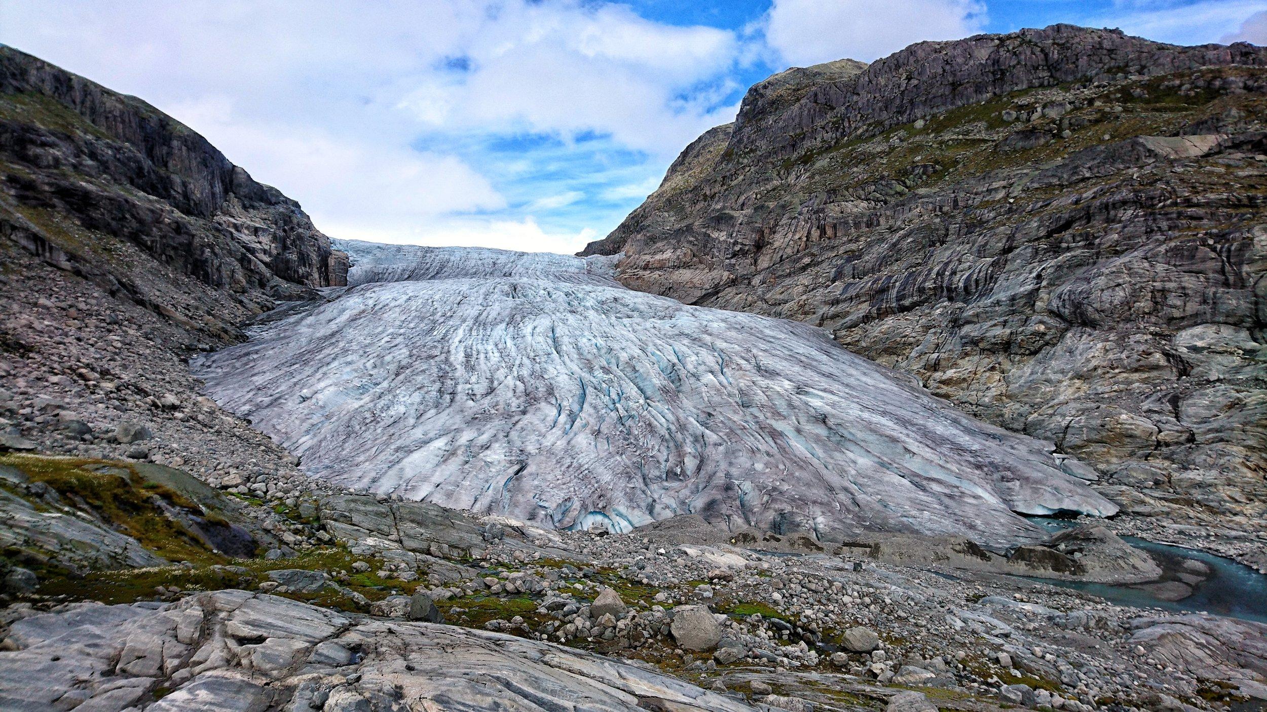 Haugabreen Glacier in 2017