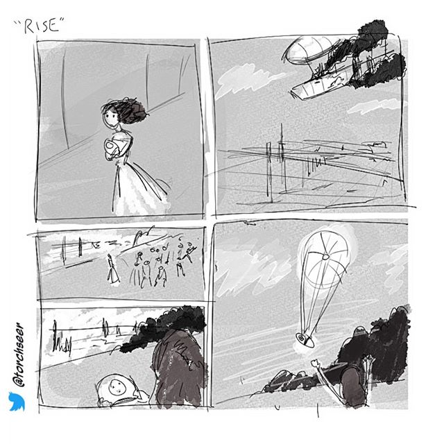 """Rise"" #10minutecomics  #digitalart"