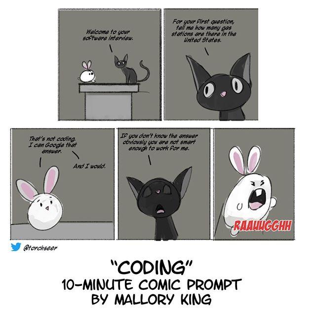 "#10minutecomics ""Coding"" #torchseer #digitalart"
