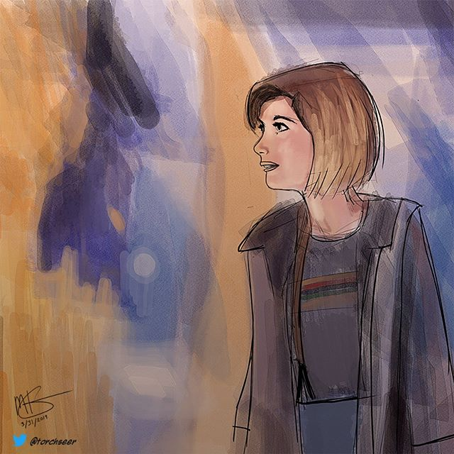 #doctorwho #digitalpainting.  warmup sketch from this morning
