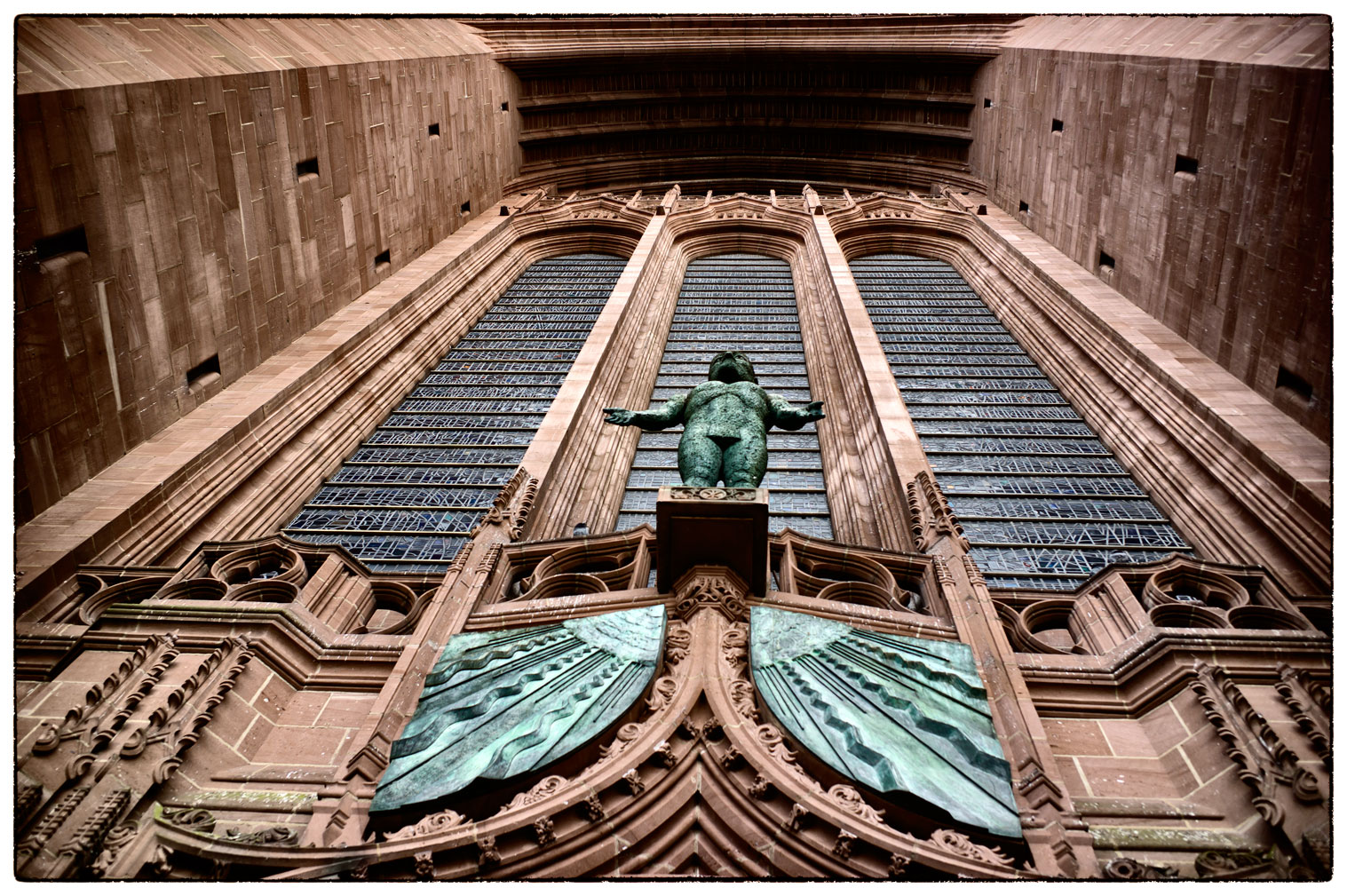 The front of the Anglican Cathedral, Liverpool.