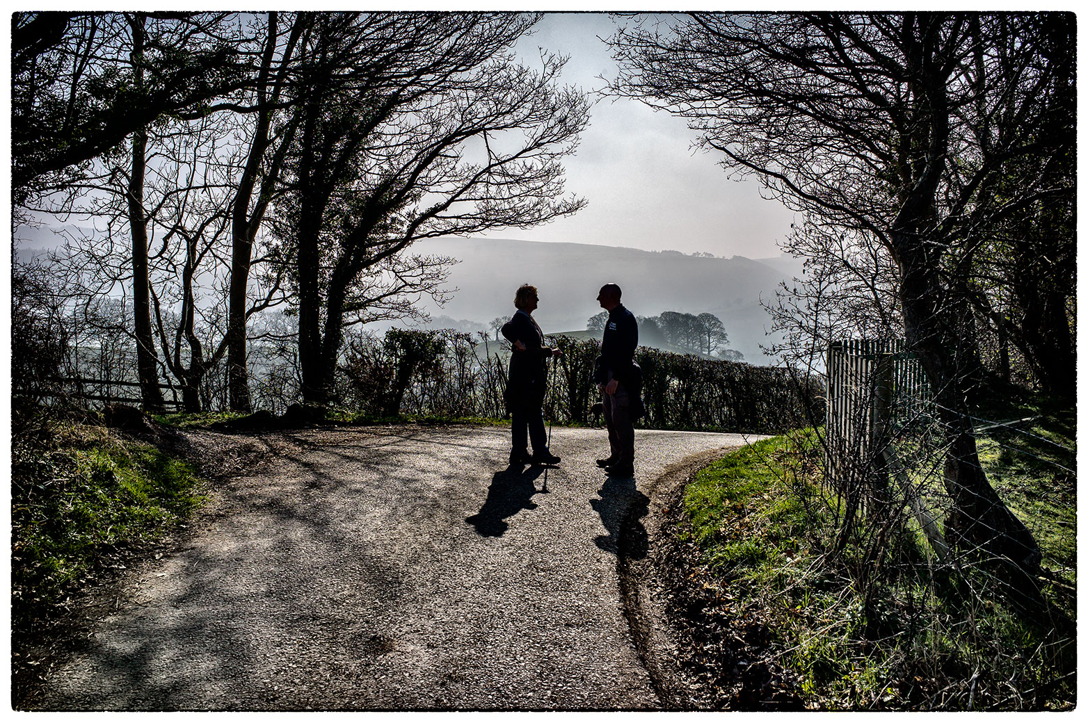 Stopping for a chat, Llangollen.