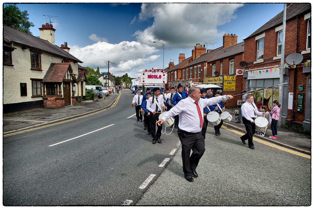 Near the start of the Hope Carnival procession yesterday morning.