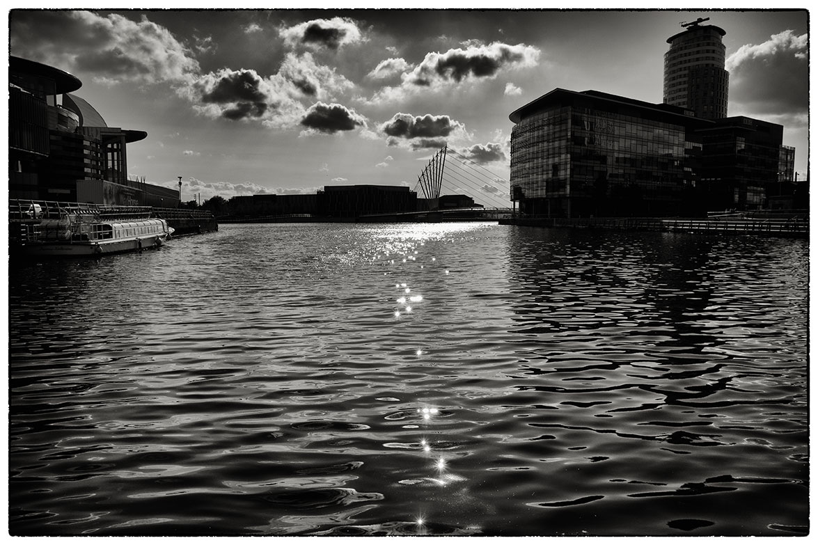 Late afternoon sun, Salford Quays.