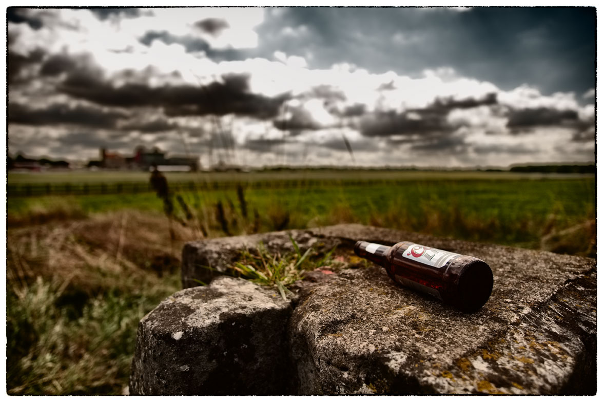 Bottle left on a rock next to York Racecourse. Should have been posted yesterday but no internet!!