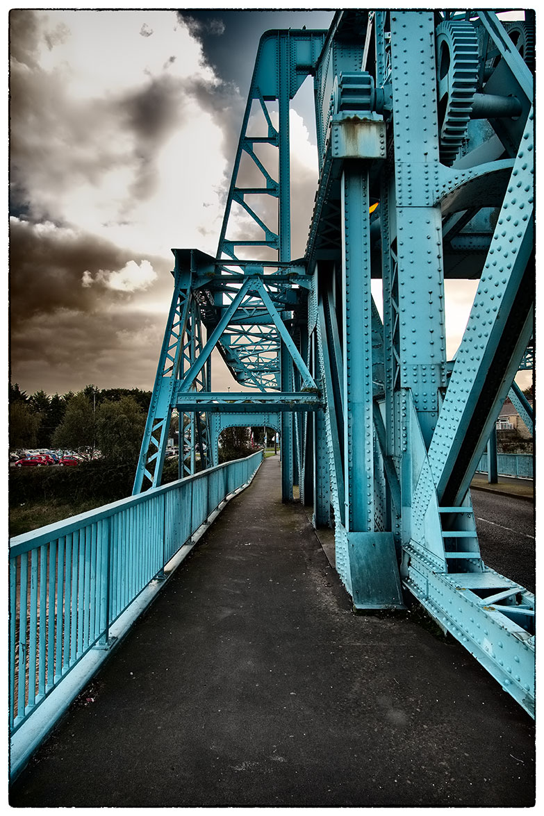 The Blue Bridge, before going watching Ben's football training session at Deeside Leisure Centre.