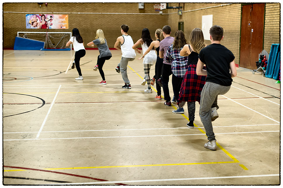 Dance rehearsals today in Caerphilly, South Wales, ready for filming tomorrow,