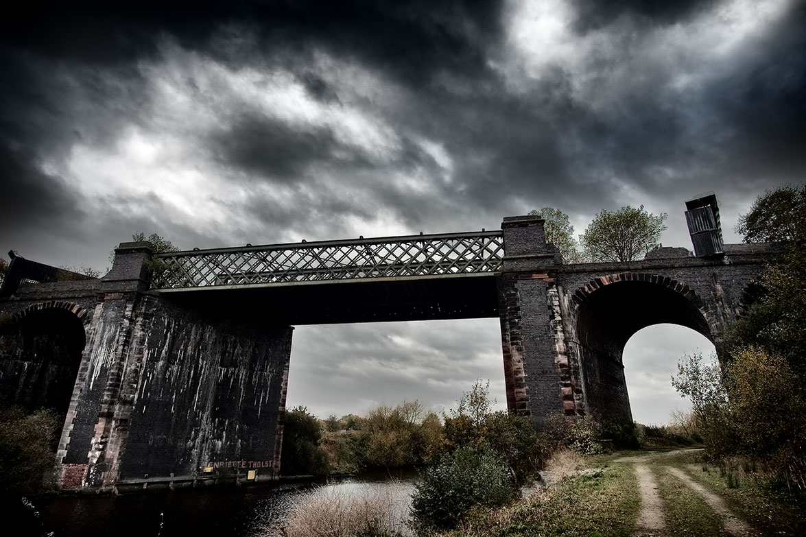 Disused bridge, Cadishead, West Manchester.