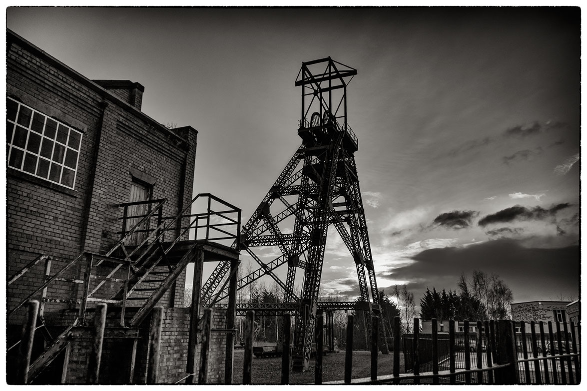 Disused pit head at what was Bersham Colliery.
