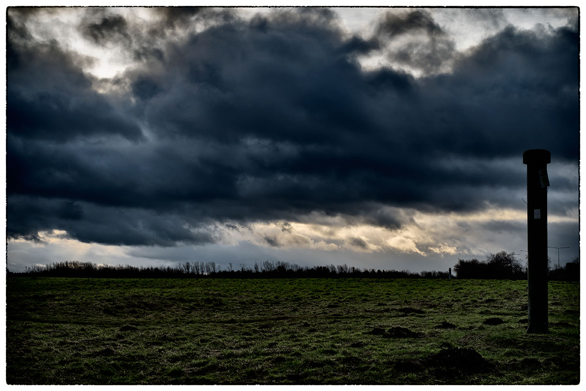 Stormy looking clouds this morning whilst we were out with the dog.