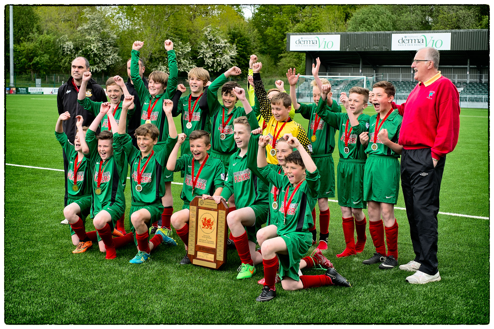 Flintshire U12s won the Welsh Schools' Football Association David Nickless Shield today at TNS today.