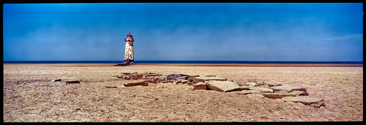 Lighthouse at Talacre, North Wales.