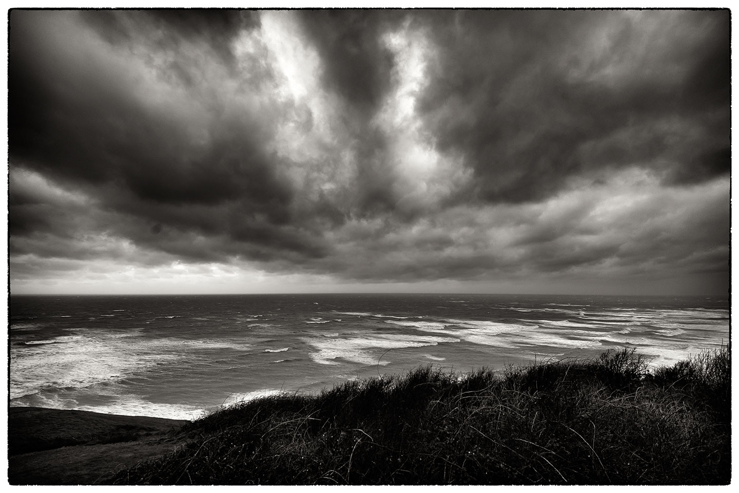 Rough seas and strong winds on the way back from Carmarthen this afternoon.