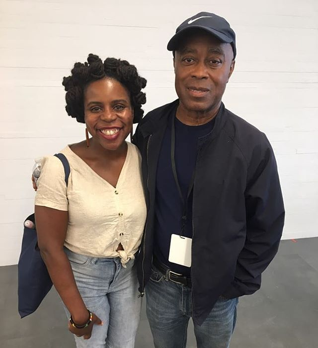 Finally met one of my inspirations! #charlesburnett esteemed filmmaker, director, writer, creative. The films Burnett created in the 70s along with other legends like Julie Dash, Haile Gerima, Bill Gunn and others in the LA Rebellion, helped to found contemporary black aesthetics in cinema. Best known for #killerofsheep Burnett continues to inspire a new generation of creatives. Also this brother is in his 70s! #blackdontcrack  Image: Charles Burnett and I post his film workshop at @kennedycenter #reachfestival