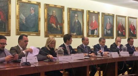 D. Jacinto MORANO, D. Artemi RALLO, Dª Elisa DE LA NUEZ, D. Germán RUÍZ, D. Raúl CANOSA, D. José Enrique NÚÑEZ, D. Ángel JUÁREZ y D. Enrique SANTIAGO.