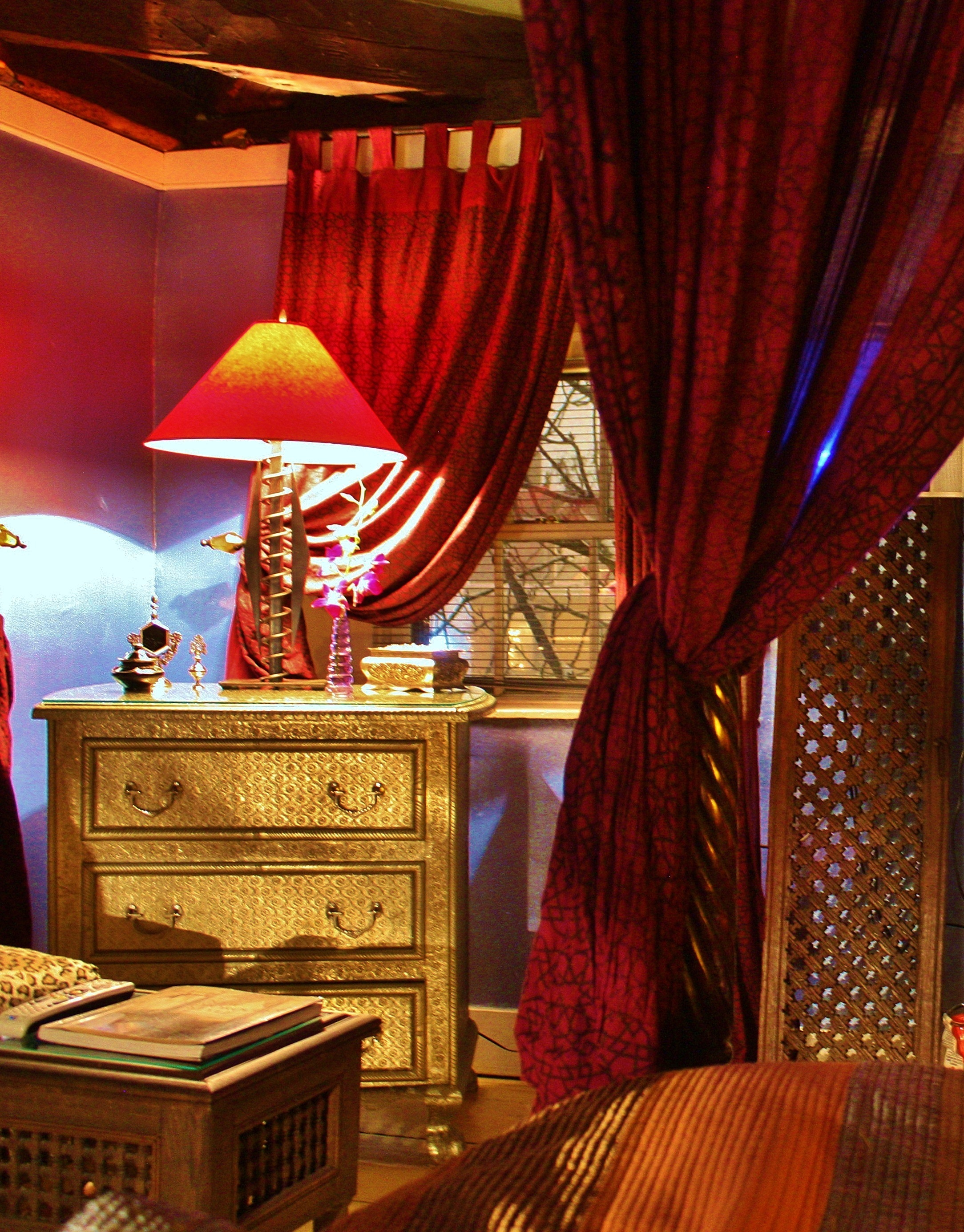Sumptuous Moroccan textures in our Boston suites...