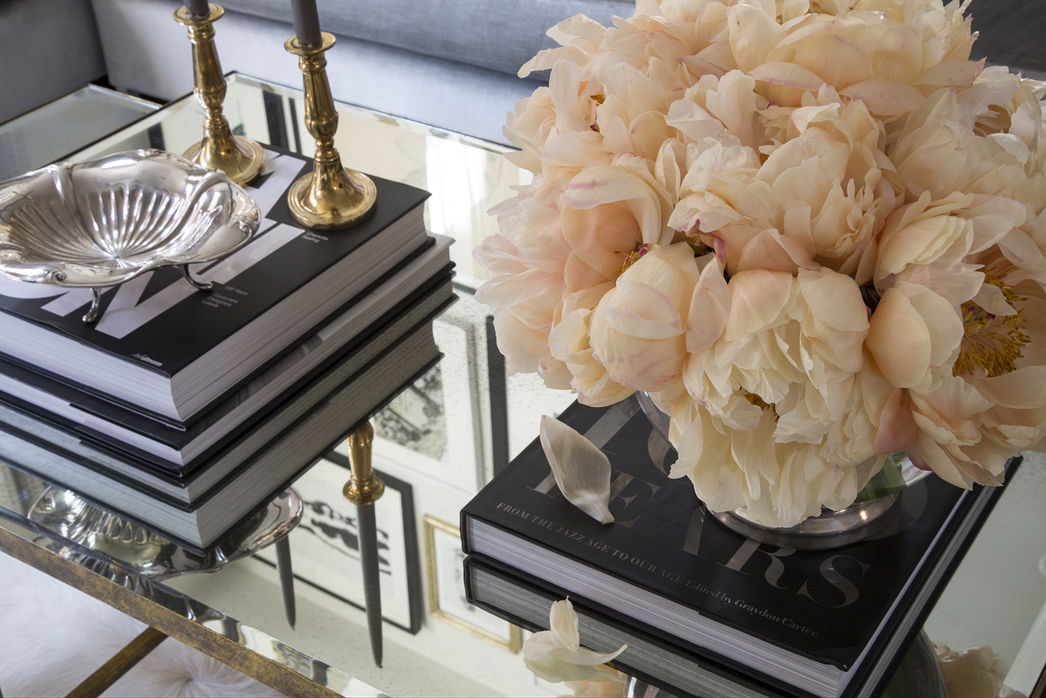 Coffee Table Styling by Wendy Labrum Interiors, LLC.