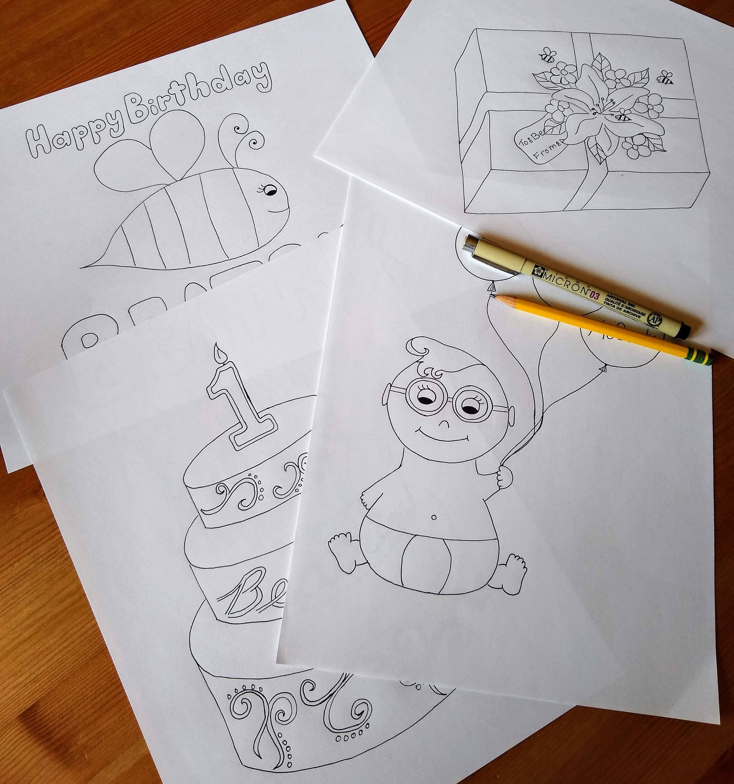 Custom coloring pages: $25 per image -