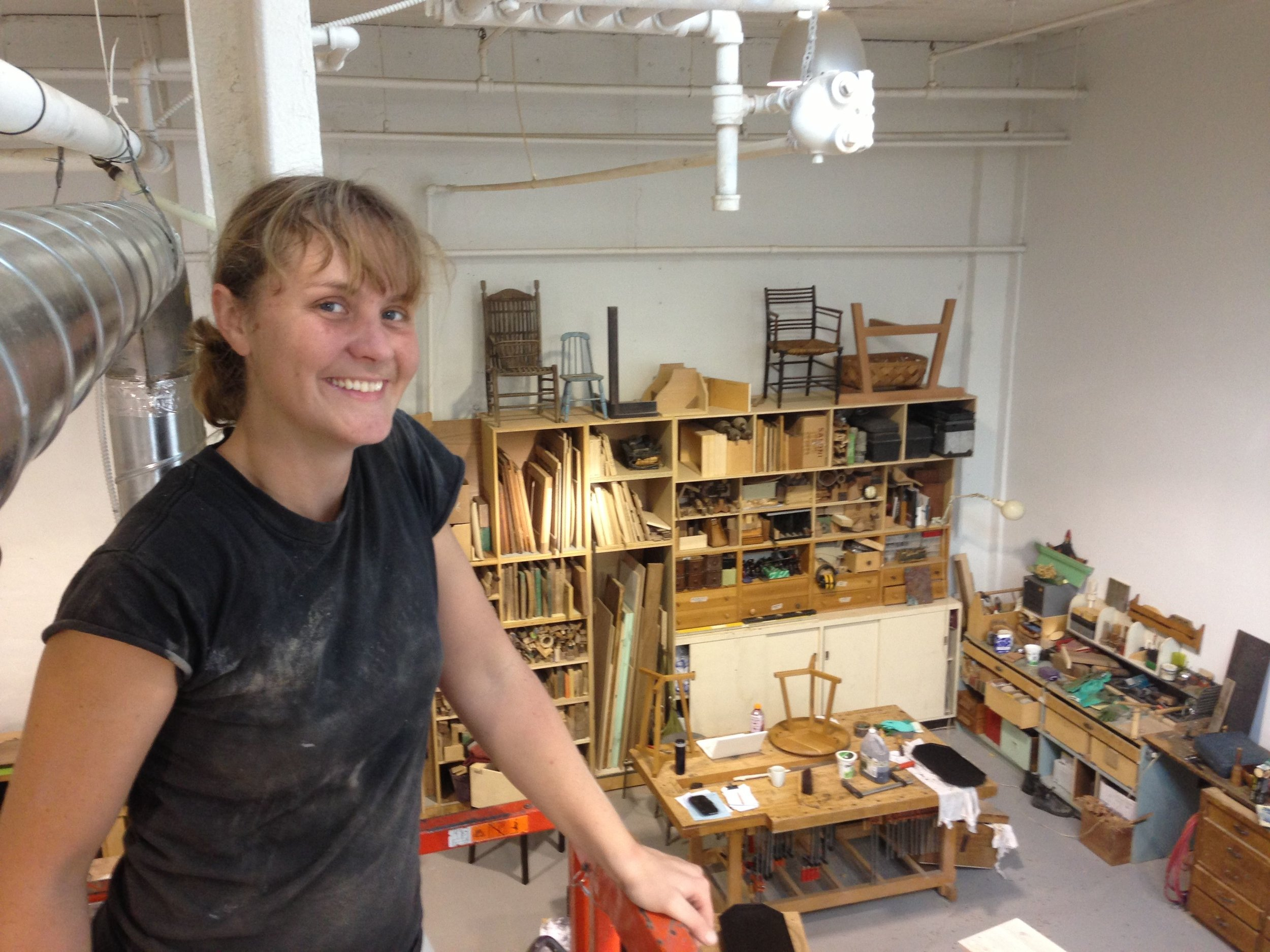 Carey Jernigan   came to woodworking from architecture and fine art. She enjoys the careful process of furniture making and has grown her skills over four years at Heidi Earnshaw Design. As an artist, she's interested in the history of work and the material objects that industry, environments, and social systems leave behind. As a teacher, she loves to share in the simple pleasure of learning to make things by hand.     www.careyjernigan.com