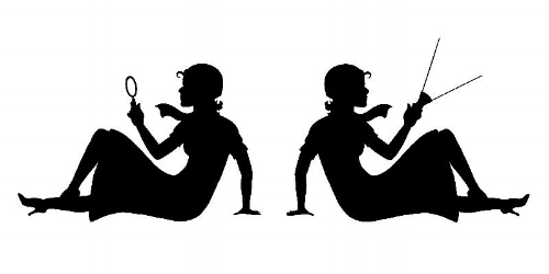 black and white 2 women with mag glass 800 X 400.jpg