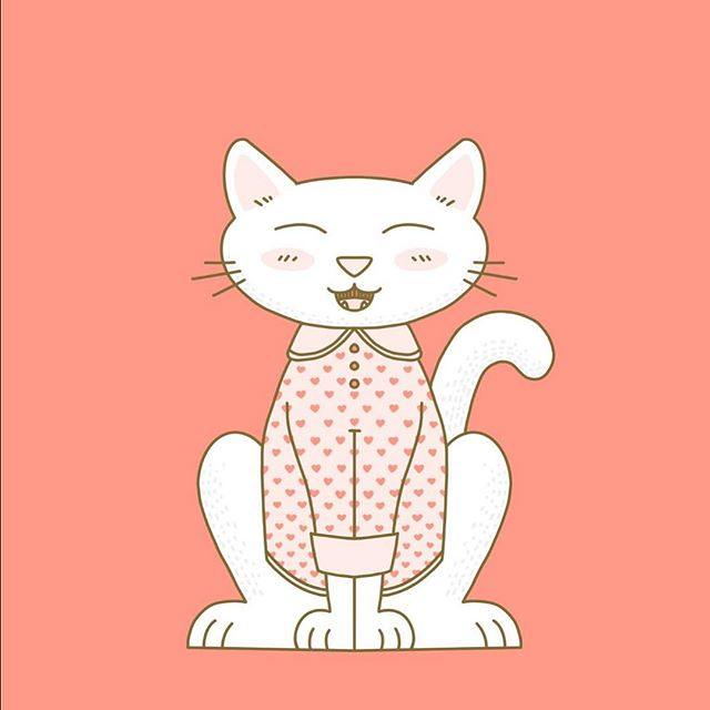 You're the cat's pajamas. 😻  #artlicensing #printandpattern #surfacedesigner #illustration #illustrator #risingtidesociety #catsofinstagram