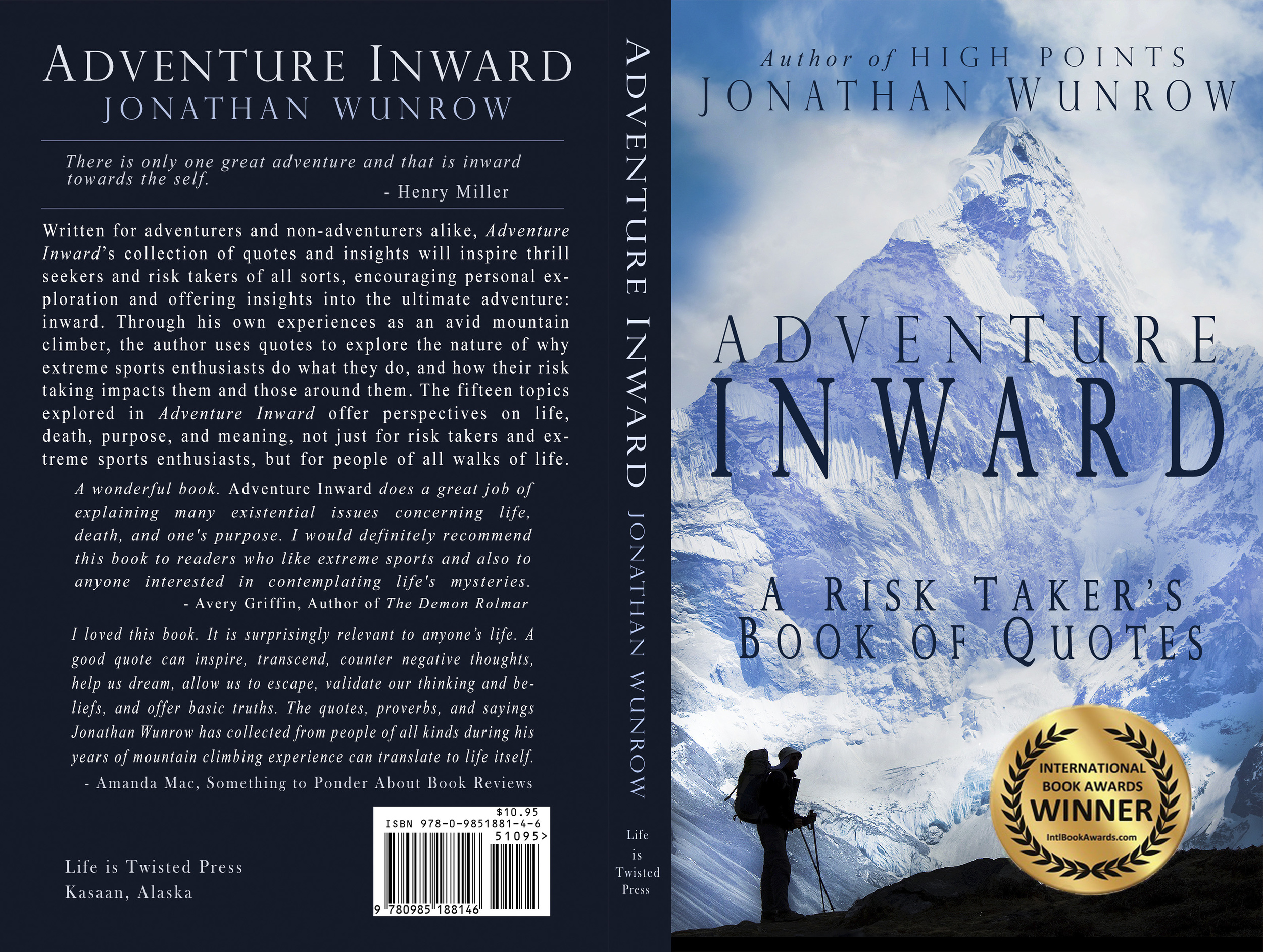 International Book Awards Winner 'Adventure Inward' by Jonathan Wunrow