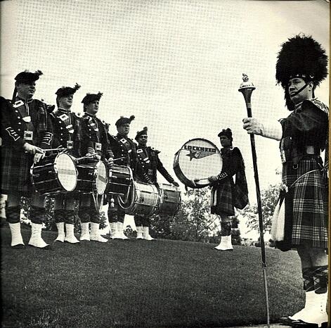 Photo by Rags Petersen   Lockheed LERA Pipe Band (1968)