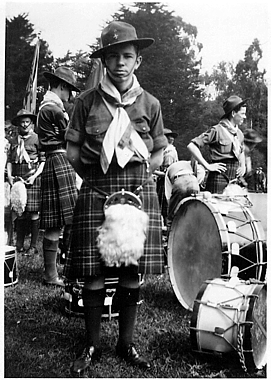 Photo courtesy of Charlie Martin   SF Boy Scout Pipe Band (1936)  Keith Martin