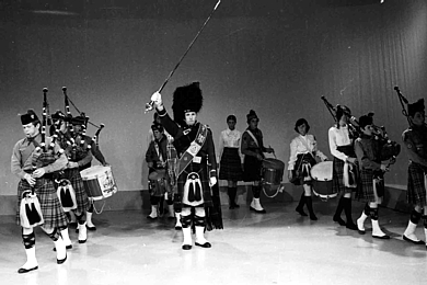 Photo courtesy of Ken Snodgrass   SF Boy Scout Pipe Band (1971)