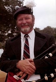 Photo courtesy of Rob Boyd  Pipe Major Dick Boyd  (photo was taken while Dick was in Dunvegan Pipe Band)