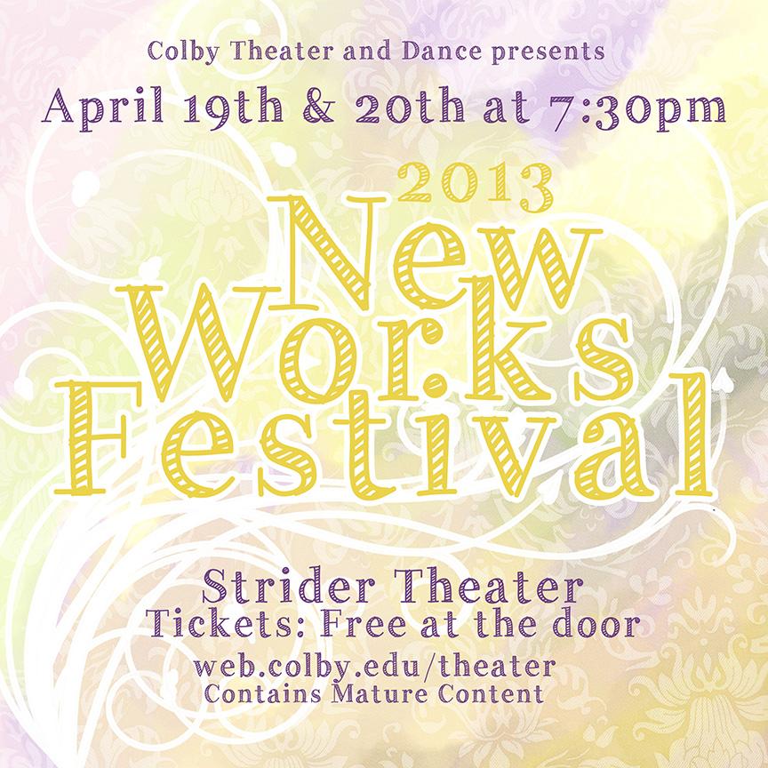 New Works Festival Poster