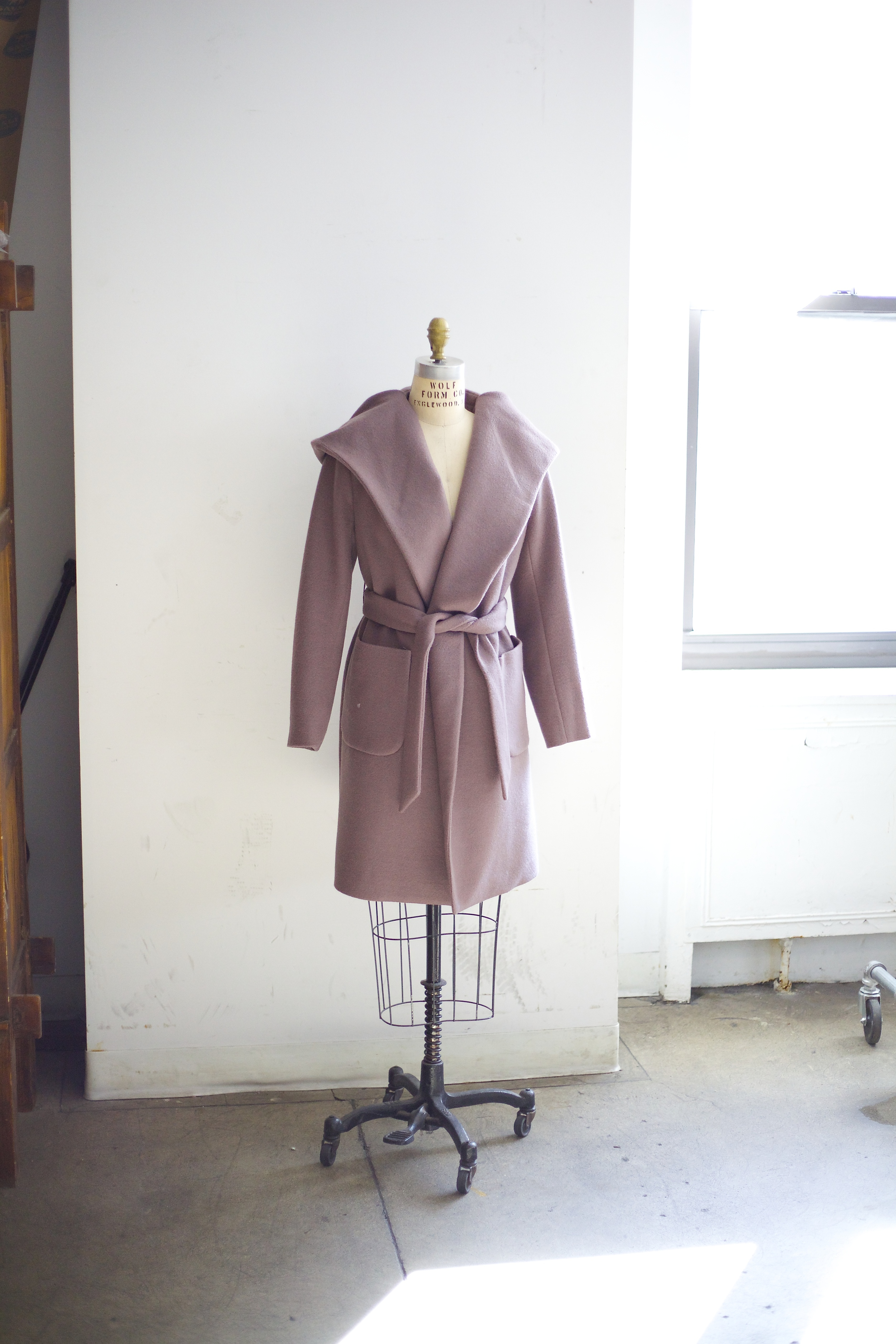 Shades of Grey Belted Wrap Coat