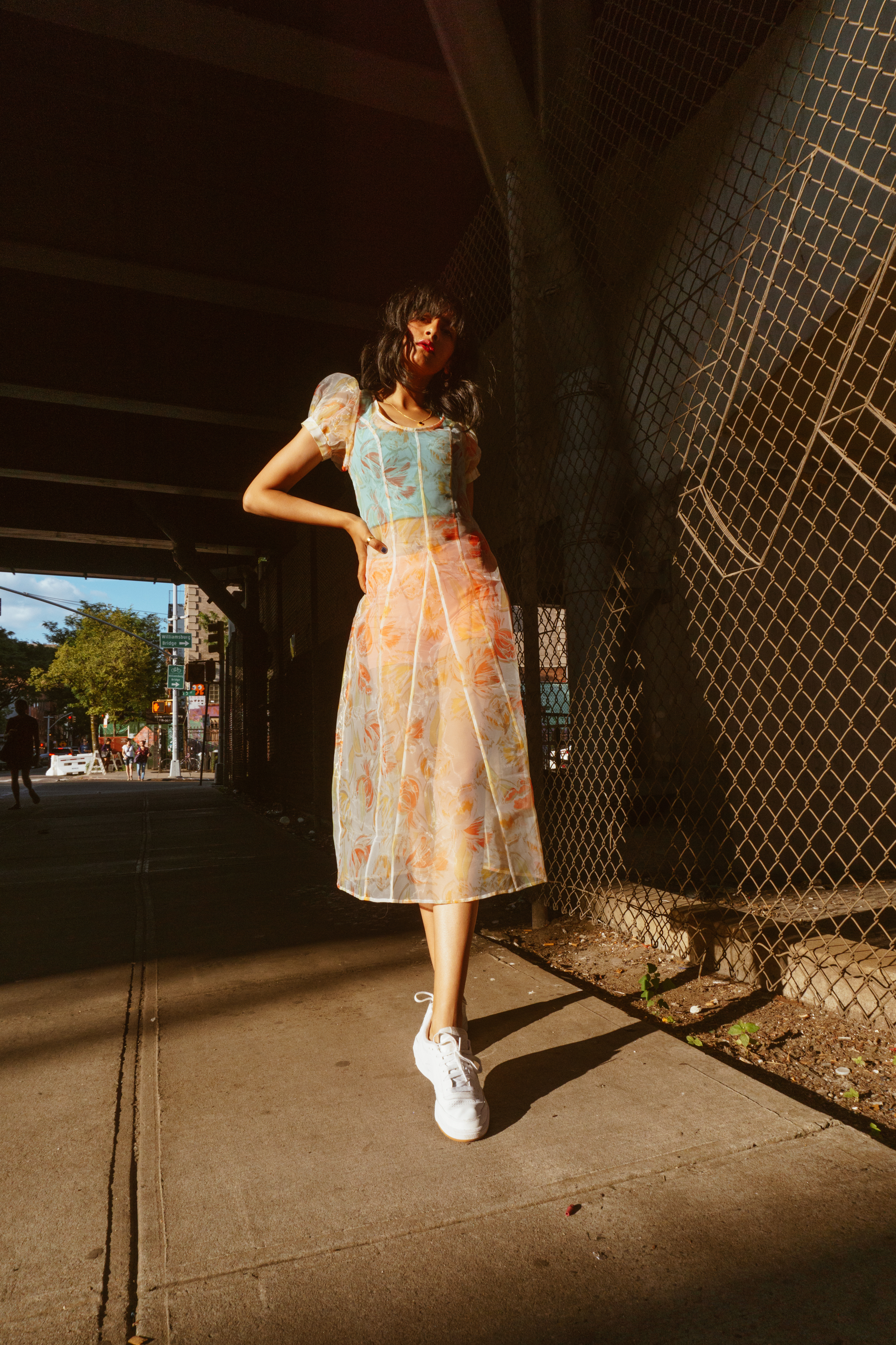 urban outfitters sheer floral dress