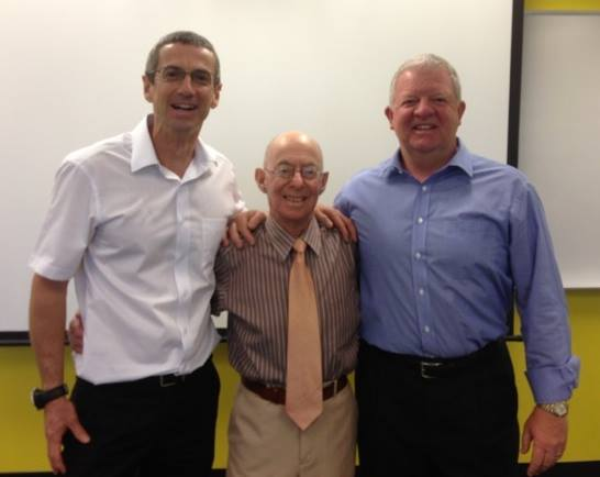 Max Zusman (centre) pictured with Dr Toby Hall (left) and Kim Robinson (right), courtesy of Manual Concepts.