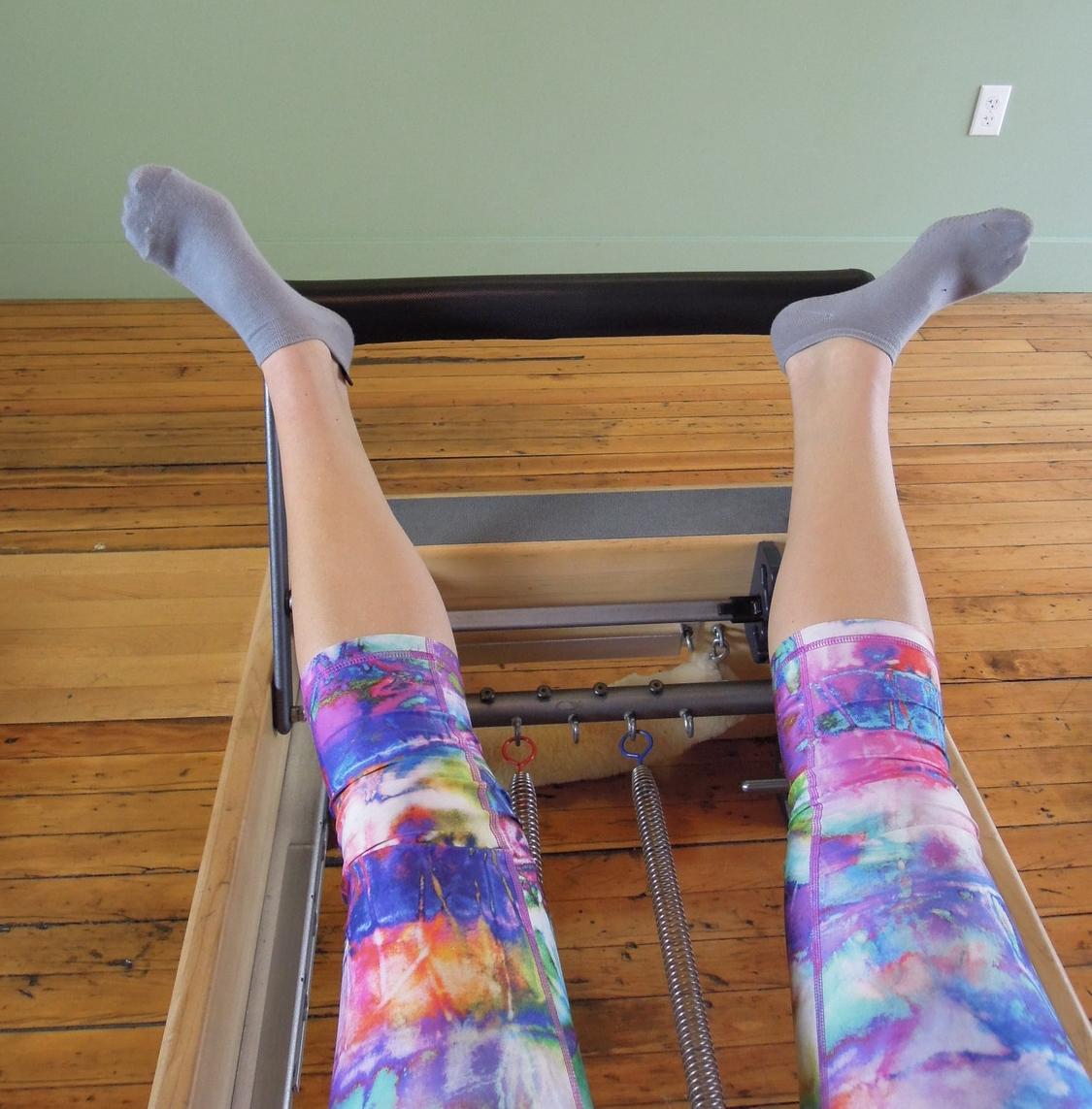 Leg press turned out wide V on heels
