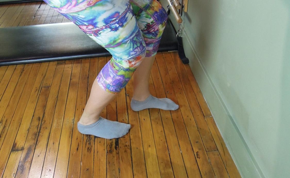 Calf stretch with a bent knee