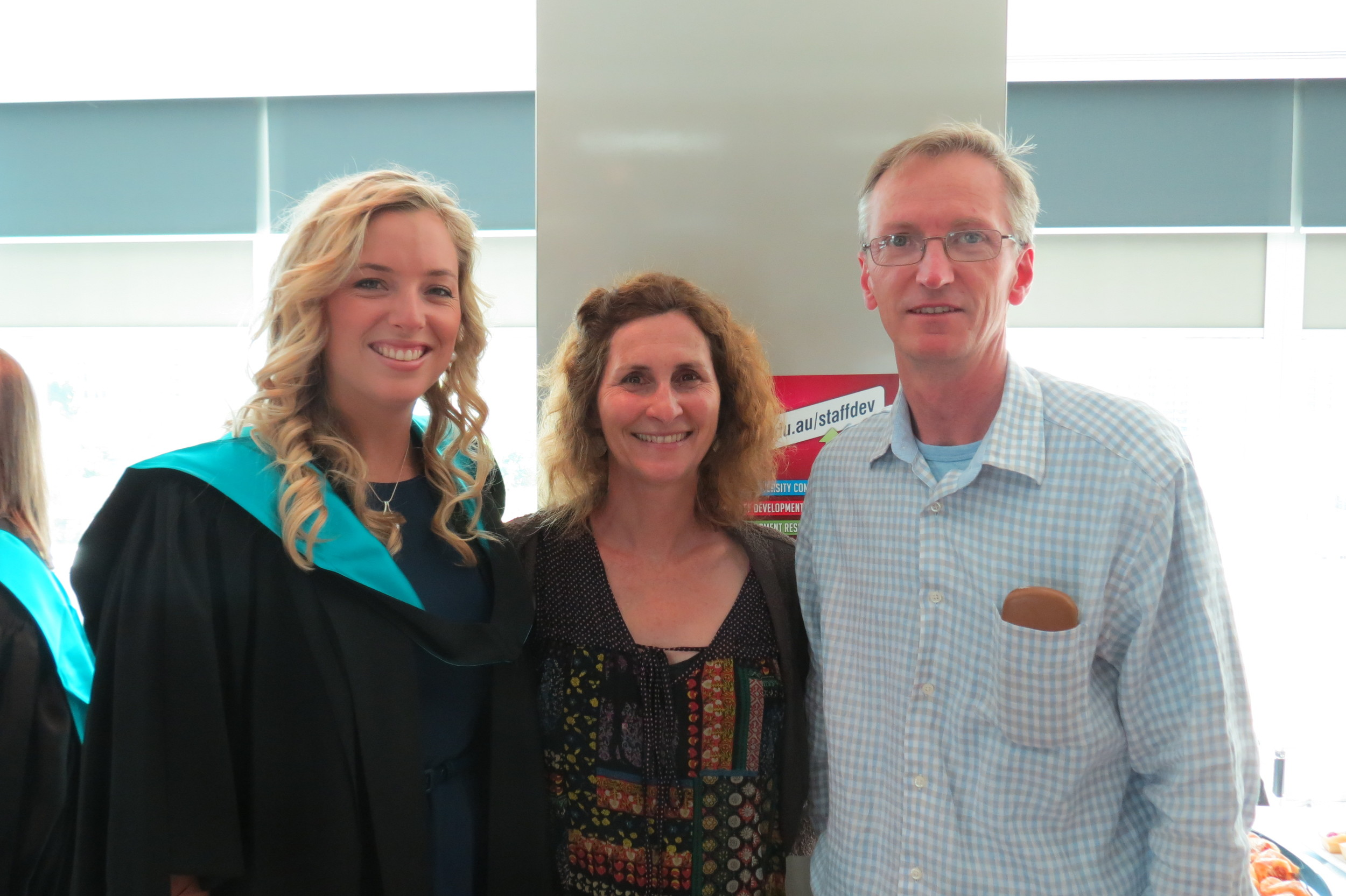 Christine and David at graduation 2013