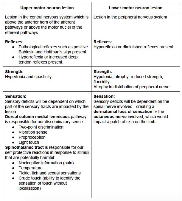 Sensation Testing - Peripheral Nerve Lesion — Rayner & Smale
