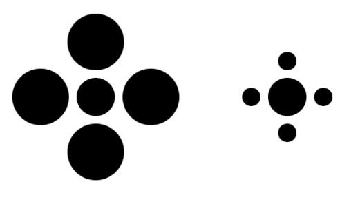 The Ebbinghaus effect https://www.moillusions.com/wp-content/uploads/3.bp.blogspot.com/albums/bb234/vurdlak8/illusions/optical_illusion_16-1.jpg