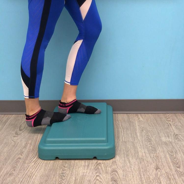 Straight knee calf stretch