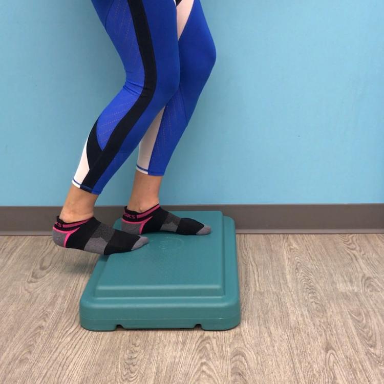 Bent knee calf stretch