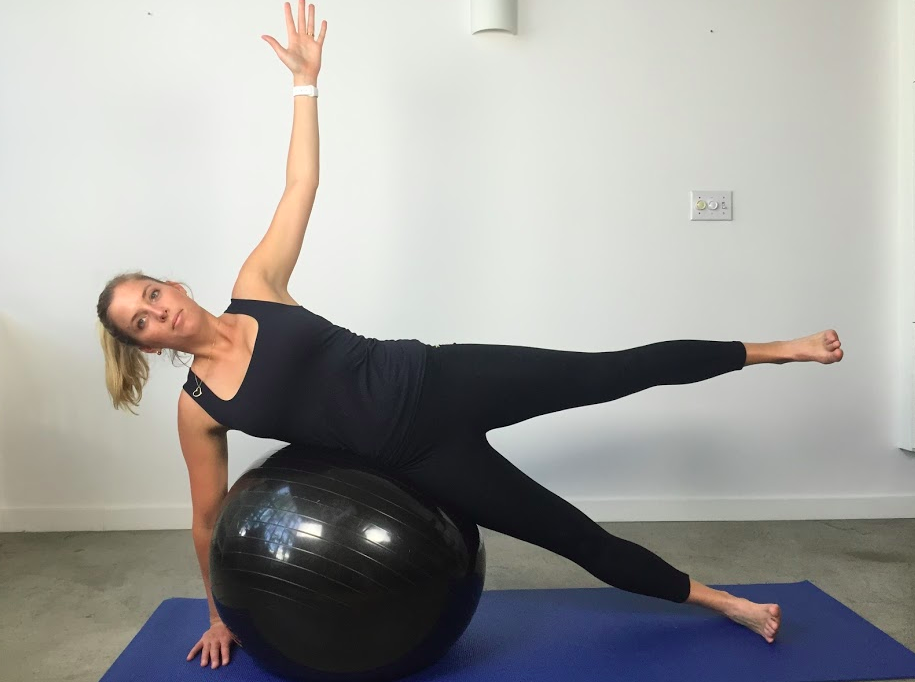 Side balance with hip abduction (harder)