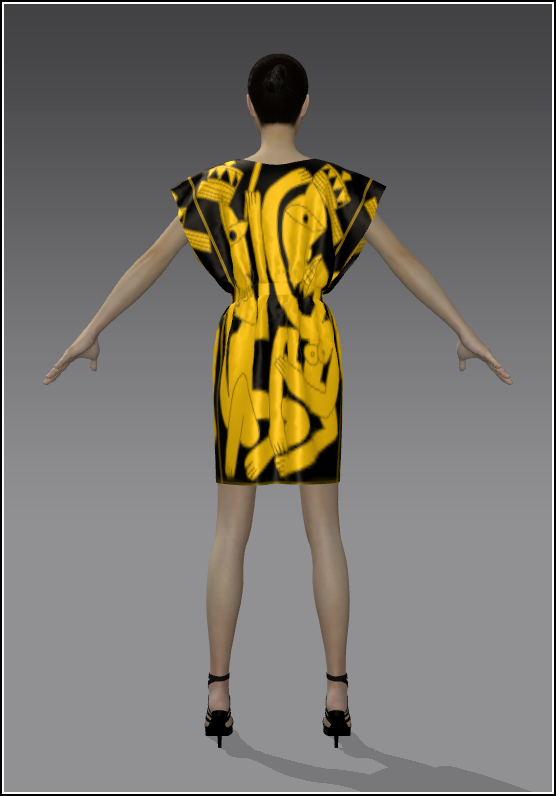 18Simple Skirt YellowGold Satin 02 Back.png