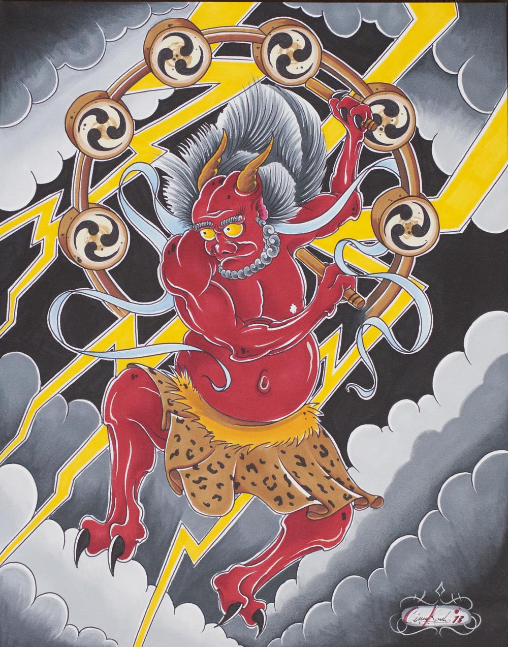 Raijin God Of Thunder Ciaran Korb Arts His name is derived from the japanese words rai (meaning thunder) and shin (god). raijin god of thunder ciaran korb arts