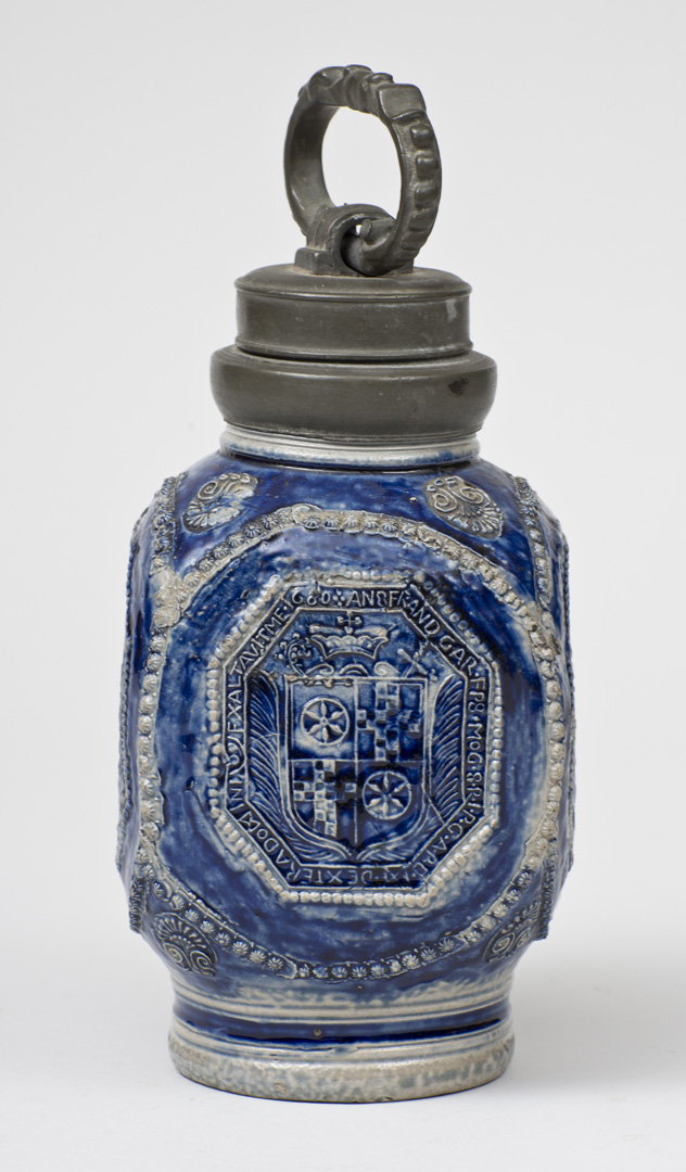 17TH C. DATED GERMAN STONEWARE BOTTLE 1.jpg