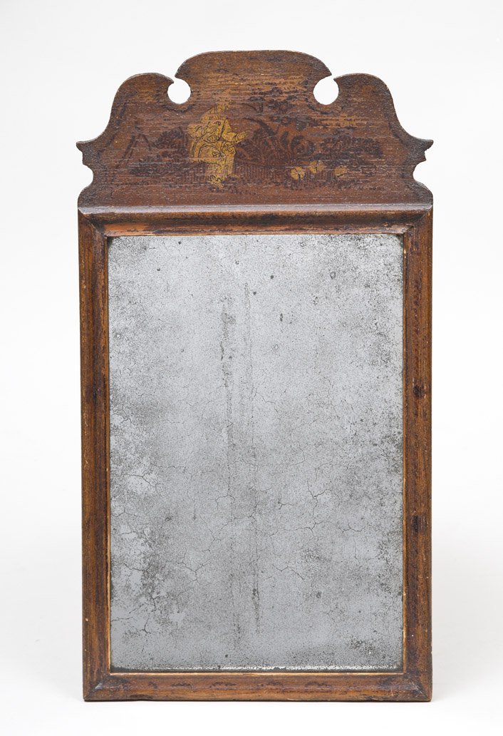 Queen Anne Mirror with Original Chinoiserie Decoration