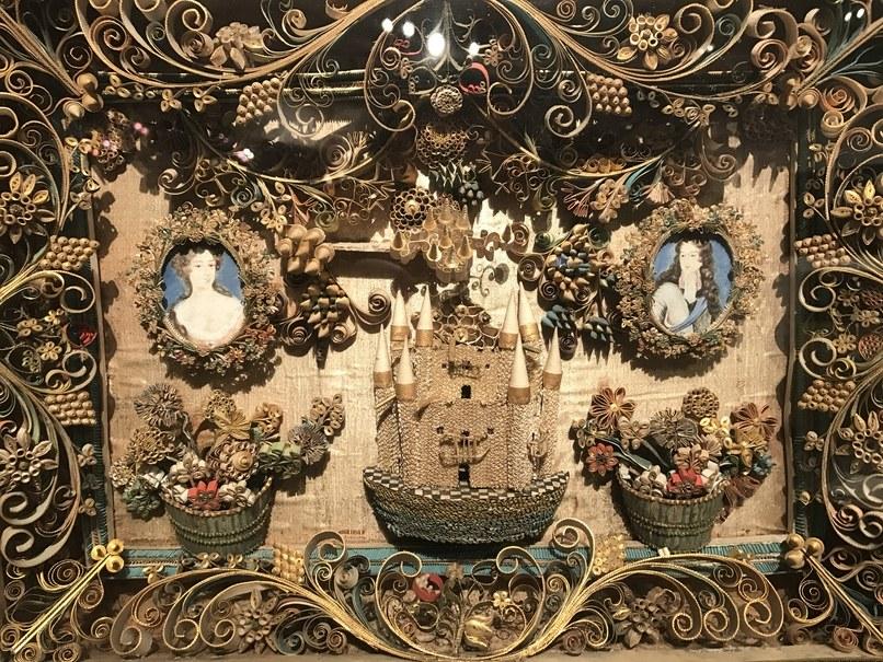 Elliott & Grace Snyder quillwork diorama.