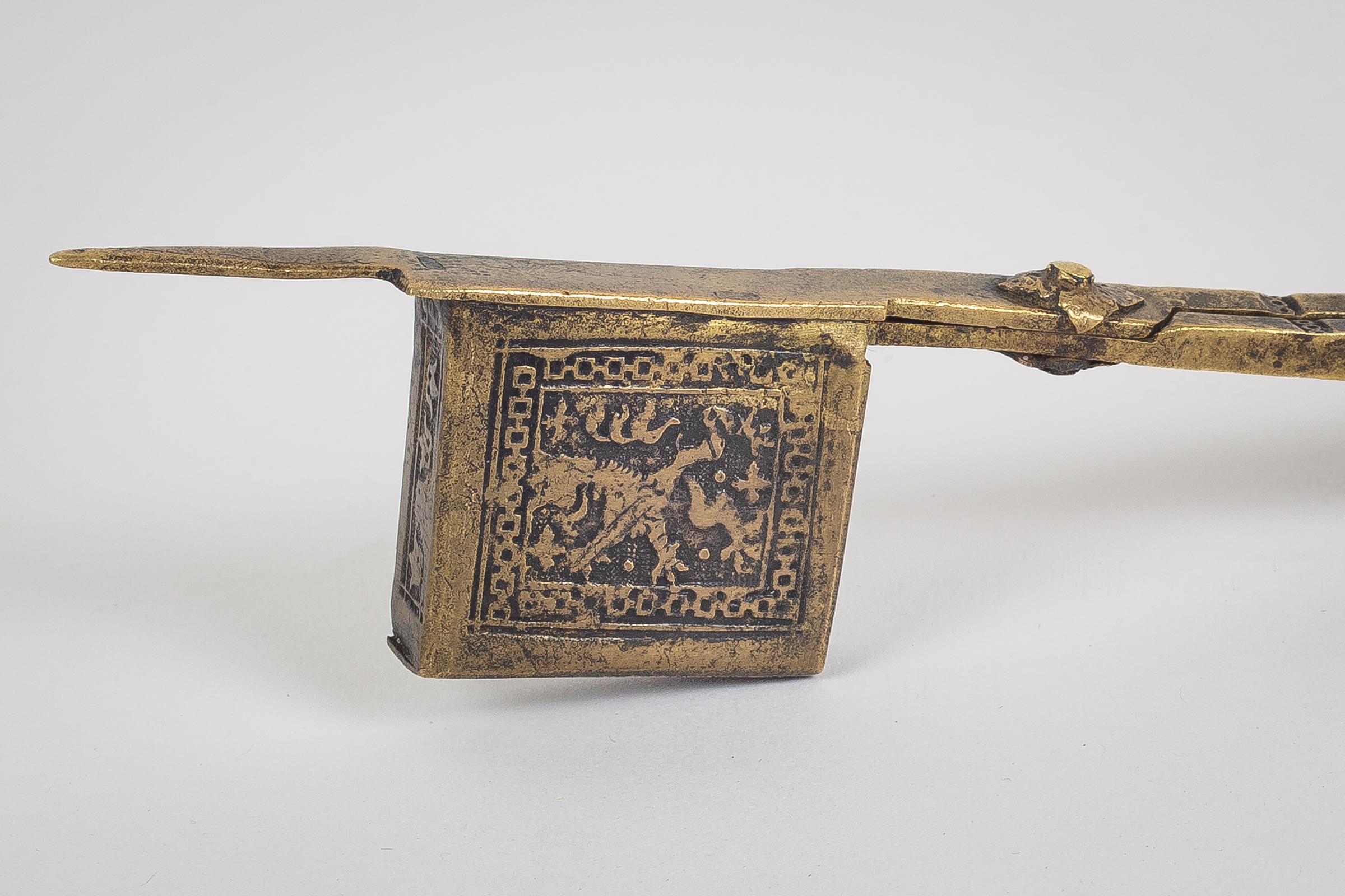 Signed 17th c. Candle Snuffer Detail